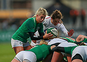 1st February 2019, Energia Park, Dublin, Ireland; Womens Six Nations rugby, Ireland versus England; Ailsa Hughes (Ireland) prepares to put in to the scrum