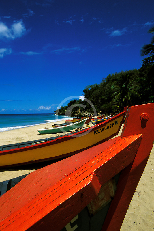 Puerto Rico, Aguadilla, Fishing boats, Crashboat Beach