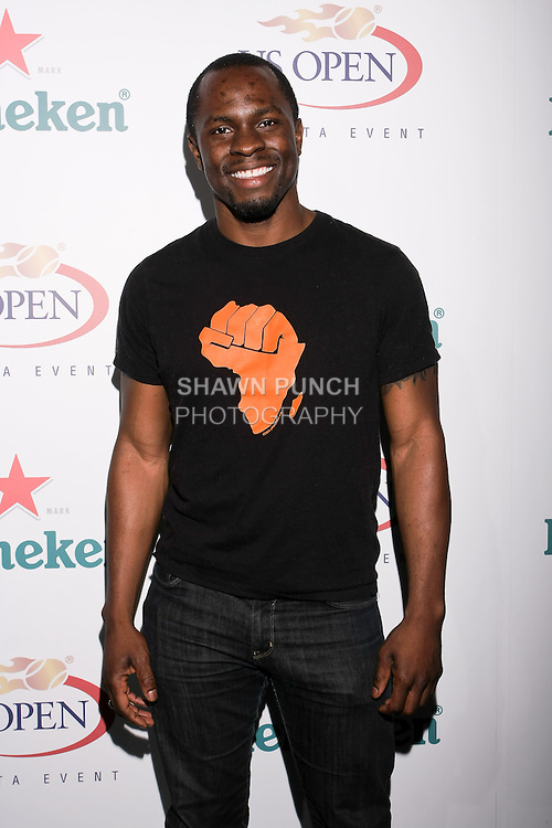 Gbenga Akinnagbe arrives at the US Open Player Party at The Empire Hotel, August 27, 2010.