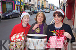 Cahersiveen Traders Josephine Keating, Keatings Corner, Isobel O'Sullivan and Joann Arthur, of Ya Gifts and Home, getting in the Christmas spirit on Friday.