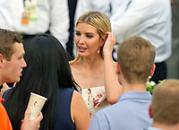 Ivanka Trump meets guests on the South Lawn of the White House in Washington, DC prior to the arrival of US President Donald J. Trump and first lady Melania Trump for the annual Congressional Picnic on the South Lawn of the White House in Washington, DC on Thursday, June 22, 2017.<br /> Credit: Ron Sachs / CNP /MediaPunch