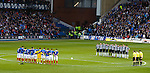 Rangers and Elgin City unite together in a maoment of remembrance for the 66 Rangers fans who died at Ibrox in Jan 197