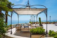 Croatia, Kvarner Gulf, Opatija: 4-stars-Hotel 'Kvarner' with relax zone | Kroatien, Kvarner Bucht, Opatija: 4-Sterne-Hotel 'Kvarner' an der Opatija Riviera, Platz zum Relaxen auf der Sonnenterrasse