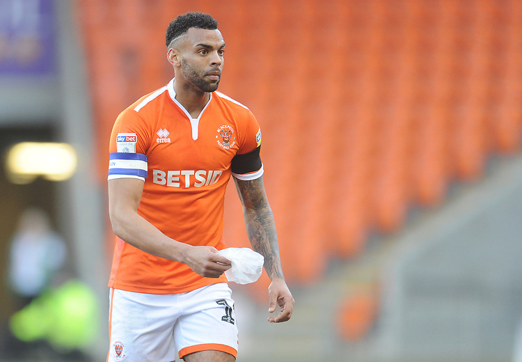 Blackpool's Curtis Tilt<br /> <br /> Photographer Kevin Barnes/CameraSport<br /> <br /> The EFL Sky Bet League One - Blackpool v Walsall - Saturday 9th February 2019 - Bloomfield Road - Blackpool<br /> <br /> World Copyright &copy; 2019 CameraSport. All rights reserved. 43 Linden Ave. Countesthorpe. Leicester. England. LE8 5PG - Tel: +44 (0) 116 277 4147 - admin@camerasport.com - www.camerasport.com