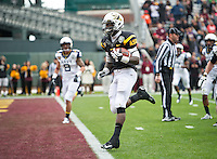 SAN FRANCISCO, CA - December 29, 2012: Arizona State running back Marion Grice (1) scores one of his touchdowns during the Navy Midshipmen vs the Arizona State Sun Devils in the 2012 Kraft Fight Hunger Bowl at AT&T Park in San Francisco, California. Final score Navy 28, Arizona State 62.