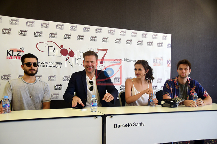 Press Conference BloodyNightCon Espa&ntilde;a 2017.<br /> Michael Malarkey, Matt Davis, Riley Voelkel &amp; Nathaniel Buzolic.