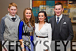 Pictured at the Causeway Social in Ballyroe Heights Hotel, Tralee on Saturday night were l-r: Evan Murphy, Sarah Murphy, Molly O'Regan and Brian Murphy.