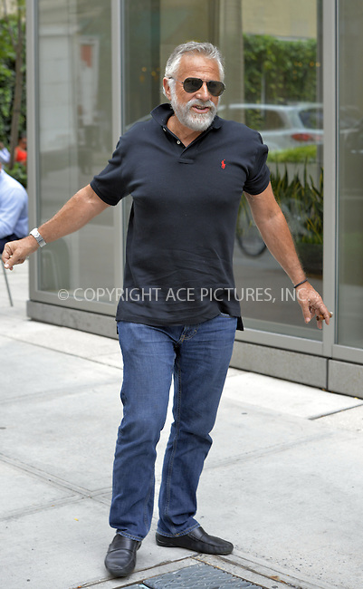 WWW.ACEPIXS.COM<br /> <br /> August 23 2013, New York City<br /> <br /> Actor Jonathan Goldsmith and his wife Barbara walk in Soho on August 23 2013 in New York City<br /> <br /> By Line: Curtis Means/ACE Pictures<br /> <br /> <br /> ACE Pictures, Inc.<br /> tel: 646 769 0430<br /> Email: info@acepixs.com<br /> www.acepixs.com