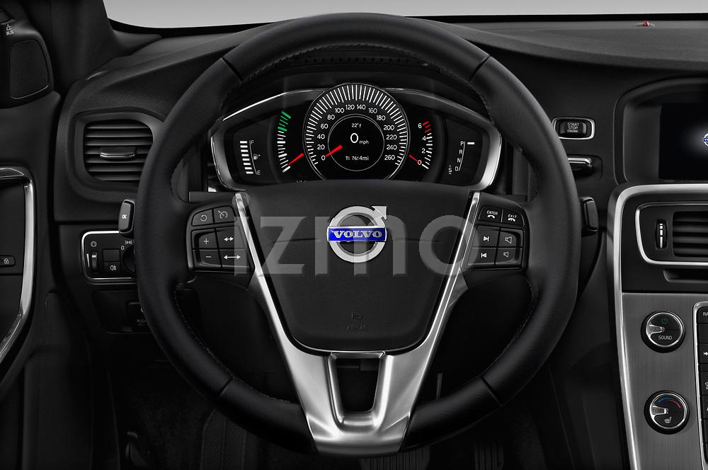 Car pictures of steering wheel view of a 2017 Volvo S60 T5 4 Door Sedan Steering Wheel