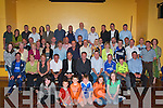 CHELSEA F.C. Former Chelsea player's Bobby Tambline Chelsea's all time top scorer (seated 4th left), Neil Barrnett (Chelsea TV seated 5th left) and Kerry Dickson (seated 6th left) with the Kerry branch of the Chelsea Supports Club at the Brandon Hotel on Saturday night.   Copyright Kerry's Eye 2008