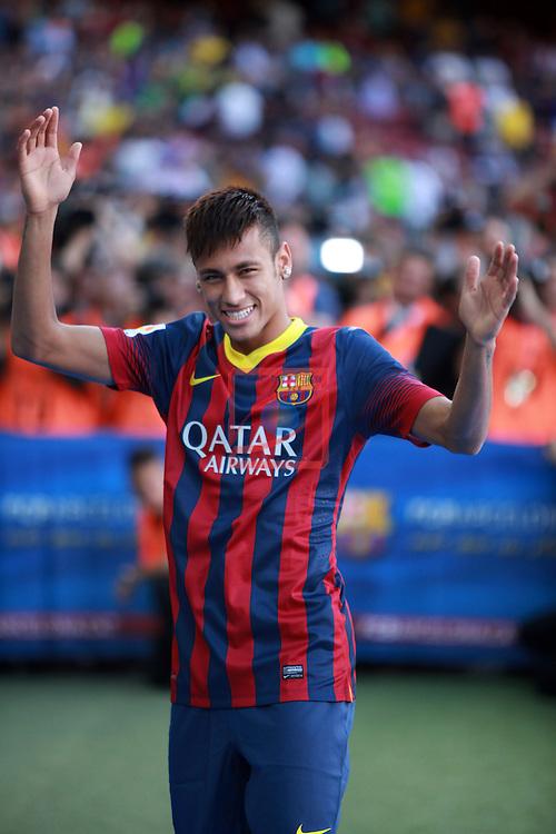 Presentation of Neymar da Silva Jr as new player of FC Barcelona
