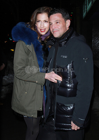 NEW YORK, NY - JANUARY 11: Alysia Reiner, David Alan Basche arriving at the IFC Films premiere of Freak Show at the Landmark Sunshine Cinema in New York City on January 10, 2018. Credit: RW/MediaPunch