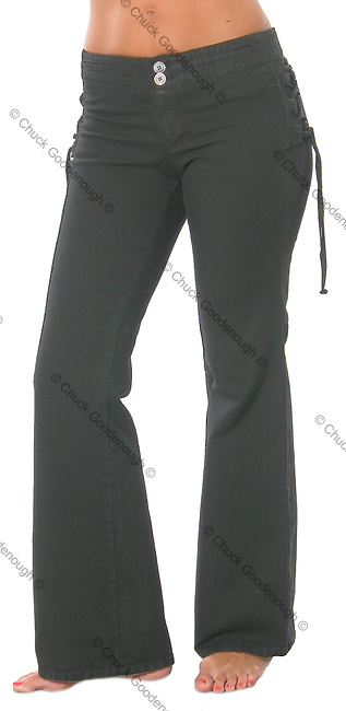 Stock photo of a pair of women's long pants