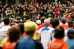 Spectators watch as runners from the 'middle of the pack' exit the Queensboro Bridge and enter Manhattan while competing in the ING New York City Marathon in New York, New York on November 4, 2007.  Martin Lel (KEN) won the men's race with a time of 2:09:04  Paula Radcliffe (GBR) won the women's race with a time of 2:23:09.