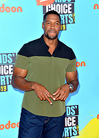 SANTA MONICA, USA. July 11, 2019: Michael Strahan at Nickelodeon's Kids' Choice Sports Awards 2019 at Barker Hangar.<br /> Picture: Paul Smith/Featureflash