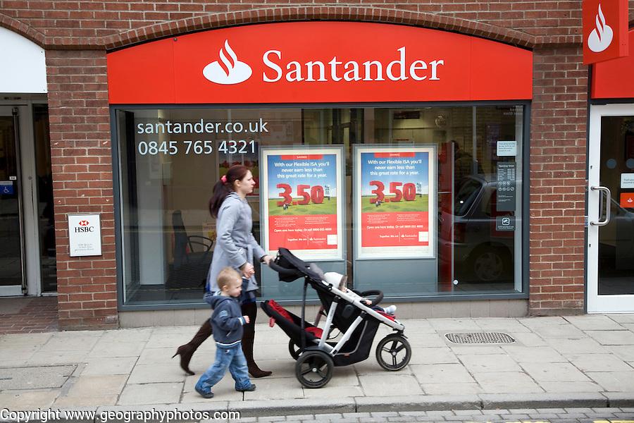 Santander bank, Colchester, Essex