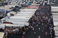 Sep 13, 2013; Charlotte, NC, USA; NHRA fans in the pro pits during qualifying for the Carolina Nationals at zMax Dragway. Mandatory Credit: Mark J. Rebilas-