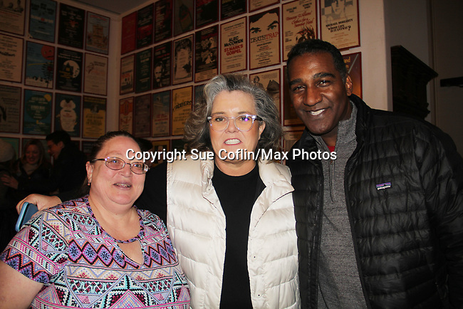 All My Children's Norm Lewis and Rosie O'Donnell star in the musical The Music Man at the Eisenhower Theater and pose with Vikki at the  John F. Kennedy Center for the Performing Arts, Washington D.C. in a sold out run and photos were taken on February 10, 2019 in the green room.  (Photo by Sue Coflin/Max Photo)