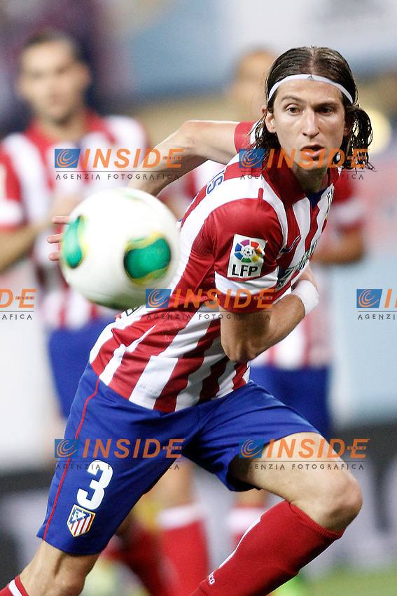 Atletico de Madrid's Filipe Luis during Supercup of Spain 1st match.August 21,2013. (ALTERPHOTOS/Acero) <br /> Football Calcio 2013/2014<br /> Supercoppa di Spagna <br /> Foto Alterphotos / Insidefoto <br /> ITALY ONLY <br /> Atletico Madrid - Barcellona
