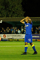 AFC Wimbledon's Lyle Taylor sees another chance missed AFC Wimbledon's Lyle Taylor sees another chance go astray during the Sky Bet League 1 match between AFC Wimbledon and MK Dons at the Cherry Red Records Stadium, Kingston, England on 22 September 2017. Photo by Carlton Myrie / PRiME Media Images.