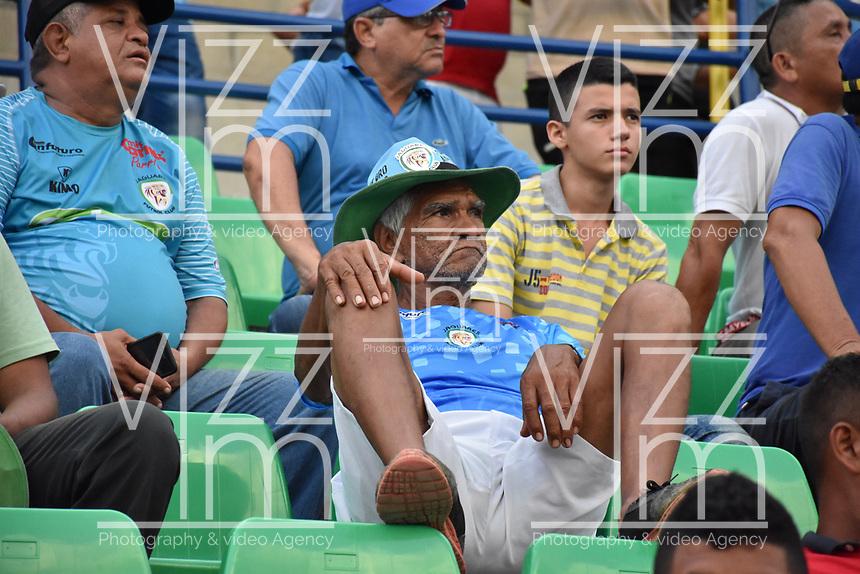 MONTERÍA - COLOMBIA, 30-09-2018:Hinchas decepcionados de Jaguares de Córdoba que perdieron dos goles por cero con Deportivo Pasto.Acción de juego etre los equipos  Jaguares de Córdoba y Deportivo Pasto durante partido por la fecha 12 de la Liga Águila II 2018 jugado en el estadio Municipal Jaraguay de Montería . /Fans of Jaguares of Cordoba.Action game between  Jaguares of Cordoba and Deportivo Pasto during the match for the date 12 of the Liga Aguila II 2018 played at Municipal Jaraguay Satdium in Monteria City . Photo: VizzorImage /Andrés Felipe López  / Contribuidor.