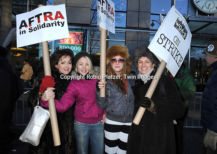 Robin Strasser, Bree Williamson, BethAnn Bonner and writer.at The Time Warner Center at a march by Daytime Actors in .support of the Writers Guild of America Strike which is entering it's 7th week on December 17, 2007. .Robin Platzer, Twin Images.