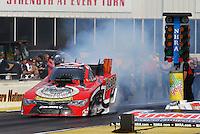 May 15, 2015; Commerce, GA, USA; NHRA funny car driver Chad Head during qualifying for the Southern Nationals at Atlanta Dragway. Mandatory Credit: Mark J. Rebilas-USA TODAY Sports