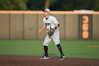 Winston-Salem Dash second baseman Nick Madrigal (4) on defense against the Buies Creek Astros at Jim Perry Stadium on August 15, 2018 in Buies Creek, North Carolina.  The Astros defeated the Dash 5-0.  (Brian Westerholt/Four Seam Images)