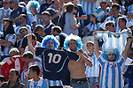 Argentina fans (ARG),<br /> JULY 1, 2014 - Football / Soccer : FIFA World Cup Brazil 2014 Round of 16 match between Argentina 1-0 Switzerland at Arena de Sao Paulo in Sao Paulo, Brazil.<br /> (Photo by FAR EAST PRESS/AFLO)