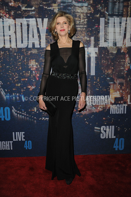 WWW.ACEPIXS.COM<br /> February 15, 2015 New York City<br /> <br /> Christine Baranski walks the red carpet at the SNL 40th Anniversary Special at 30 Rockefeller Plaza on February 15, 2015 in New York City.<br /> <br /> Please byline: Kristin Callahan/AcePictures<br /> <br /> ACEPIXS.COM<br /> <br /> Tel: (646) 769 0430<br /> e-mail: info@acepixs.com<br /> web: http://www.acepixs.com