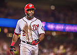 20 May 2014: Washington Nationals outfielder Denard Span comes home to score against the Cincinnati Reds at Nationals Park in Washington, DC. Span tied his career high of going 5 for 5 as the Nationals defeated the Reds 9-4 to take the second game of their 3-game series. Mandatory Credit: Ed Wolfstein Photo *** RAW (NEF) Image File Available ***