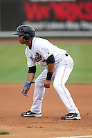 Great Lakes Loons Christian Lara during a game vs. the Dayton Dragons at Dow Diamond in Midland, Michigan August 19, 2010.   Great Lakes defeated Dayton 1-0.  Photo By Mike Janes/Four Seam Images