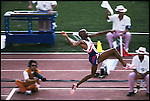 Long jump finals, men, Michael Powell (USA) silver, Summer Olympics, Barcelona, Spain August, 1992
