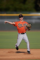 Baltimore Orioles shortstop Adam Hall (51) during practice before an Instructional League game against the New York Yankees on September 23, 2017 at the Yankees Minor League Complex in Tampa, Florida.  (Mike Janes/Four Seam Images)