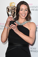 Suranne Jones<br /> in the winners room at the 2016 BAFTA TV Awards, Royal Festival Hall, London<br /> <br /> <br /> &copy;Ash Knotek  D3115 8/05/2016