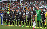BOGOTA -COLOMBIA, 5- OCTUBRE-2014. Formacion del Atletico Nacional contra el Independiente Santa Fe partido   de La Liga Postobón treceava fecha 2014-2. Estadio  Nemesio Camacho El Campin   / Team of Atletico Nacional  against  Independiente Santa Fe  , during   La Liga match Postobón  13th 2014-2.  Nemesio Camacho El Campin stadium . Photo: VizzorImage / Felipe Caicedo / Staff