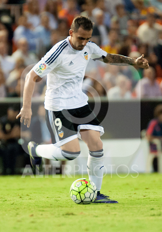 Valencia's Paco Alcacer during La Liga match.September, 25. 2015. (ALTERPHOTOS/Javier Comos)