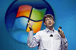 January 4,2006 , Las Vegas,Nevada --- Chairman and Chief Software Architect for Microsoft Corporation Bill Gates delivers the opening keynote address for the 2006 International Consumer Electronics Show (CES) at the Las Vegas Hilton. Gates provided an overview of the latest devices and outlined the company's vision for the future by previewing upcoming products like Windows Vista. ---  Chris Farina