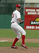 June 21, 2004:  Pitcher Zac Cline of the Batavia Muckdogs, Short-Season Single-A affiliate of the Philadelphia Phillies, during a game at Dwyer Stadium in Batavia, NY.  Photo by:  Mike Janes/Four Seam Images