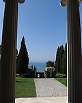 A view out to sea from the home of famous Croation sculptor Ivan <br />