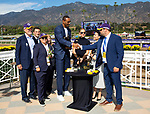 November 2, 2019: Connections for Covfefe, winner of the Breeders' Cup Filly & Mare Sprint on Breeders' Cup World Championship Friday at Santa Anita Park on November 2, 2019: in Arcadia, California. Bill Denver/Eclipse Sportswire/CSM