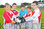 Having fun at the Glenflesk GAA Cúl Camps last week .L-R Mark O'Donoghue, Evan Kissane, Patrick Darcy, Steven Corsan and Jamie O'Shea.