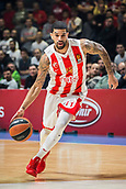 9th February 2018, Aleksandar Nikolic Hall, Belgrade, Serbia; Euroleague Basketball, Crvenz Zvezda mts Belgrade versus AX Armani Exchange Olimpia Milan; Guard James Feldeine of Crvena Zvezda mts Belgrade in action with the ball