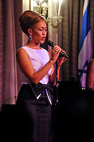 NEW YORK - JULY 12: Singer Rebecca Ferguson performs during the UJA-Federation Music Visionary of the Year Award Luncheon at the Pierre Hotel on July 12, 2012 in New York City. (Photo by MPI81/MediaPunchInc) /*NORTEPHOTO*<br />