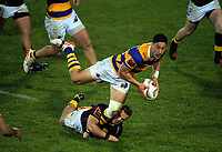 Wes Goosen tries to stop Lalakai Foketi during the Mitre 10 Cup rugby union match between Bay of Plenty and Wellington at Rotorua International Stadium in Rotorua, New Zealand on Thursday, 31 August 2017. Photo: Dave Lintott / lintottphoto.co.nz