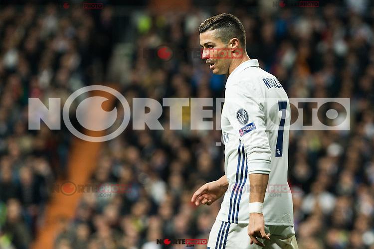 Real Madrid's Cristiano Ronaldo during Champions League match between Real Madrid and Borussia Dortmund  at Santiago Bernabeu Stadium in Madrid , Spain. December 07, 2016. (ALTERPHOTOS/Rodrigo Jimenez) /NortePhoto.com