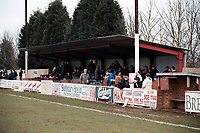 The main stand at Collier Row FC Football Ground, Sungate, Collier Row, Romford, Essex, pictured on 1st February 1997