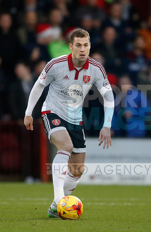 Paul Coutts of Sheffield Utd - English League One - Scunthorpe Utd vs Sheffield Utd - Glandford Park Stadium - Scunthorpe - England - 19th December 2015 - Pic Simon Bellis/Sportimage