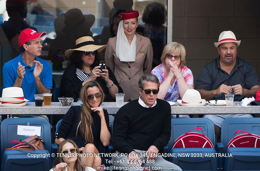 HUGH GRANT, CELEBRITY<br /> <br /> TENNIS - THE US OPEN - FLUSHING MEADOWS - NEW YORK - ATP - WTA - ITF - GRAND SLAM - OPEN - NEW YORK - USA - 2016  <br /> <br /> <br /> <br /> &copy; TENNIS PHOTO NETWORK