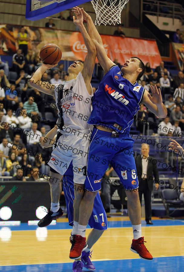 Kosarka ABA League season 2012-2013.Partizan Vs. Siroki.Vladimir Lucic and Darko Planinic.Beograd, 14.10.2012...foto: Srdjan Stevanovic/Starsportphoto ©